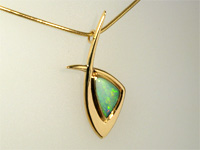 Contemporary jewellery opal pendants triangle opal pendant aloadofball Images