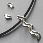 Silver Curved End Pendant